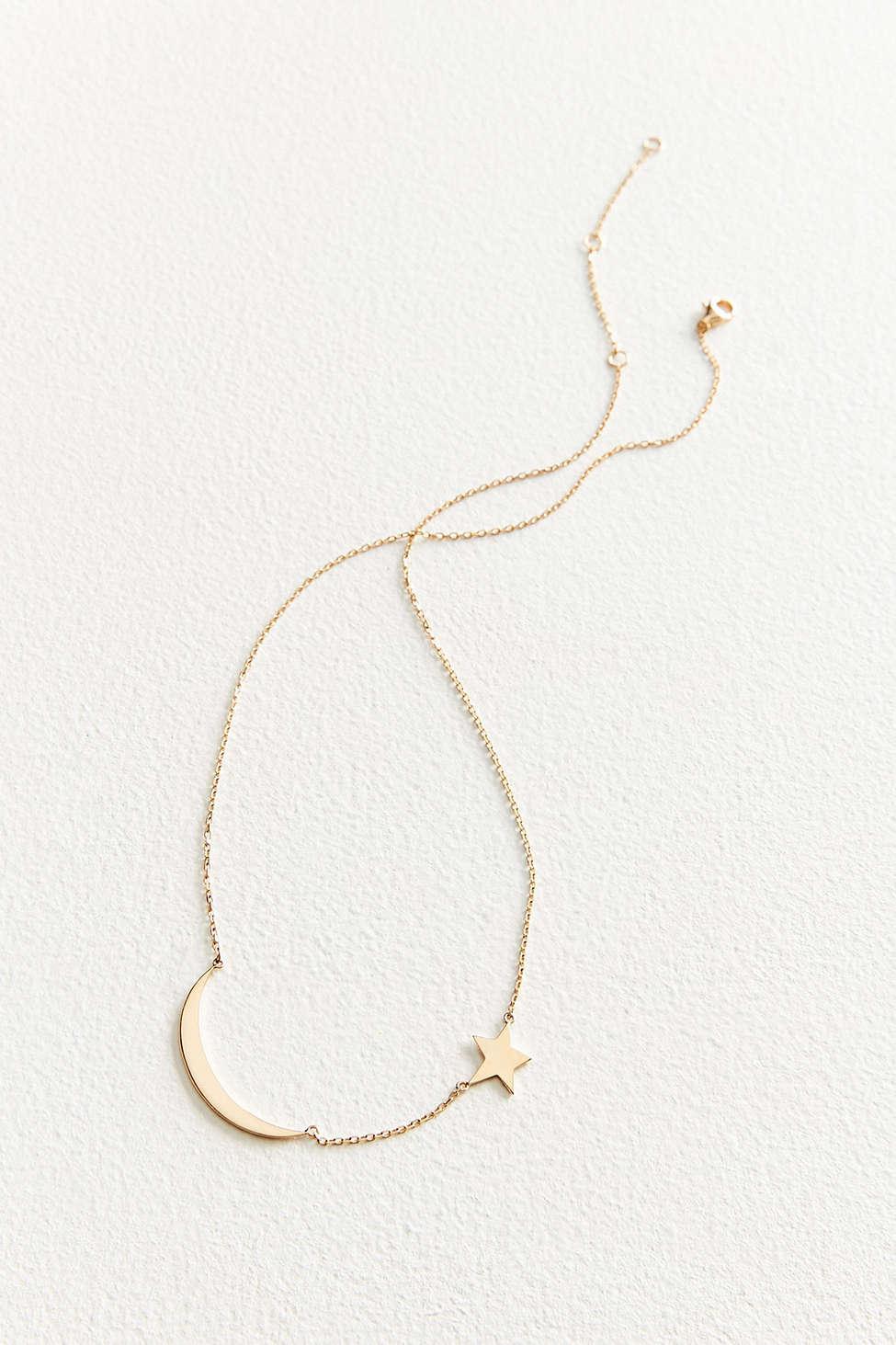 30c5ddb38 Jennifer Zeuner X Uo Moon Star Necklace in Metallic - Lyst