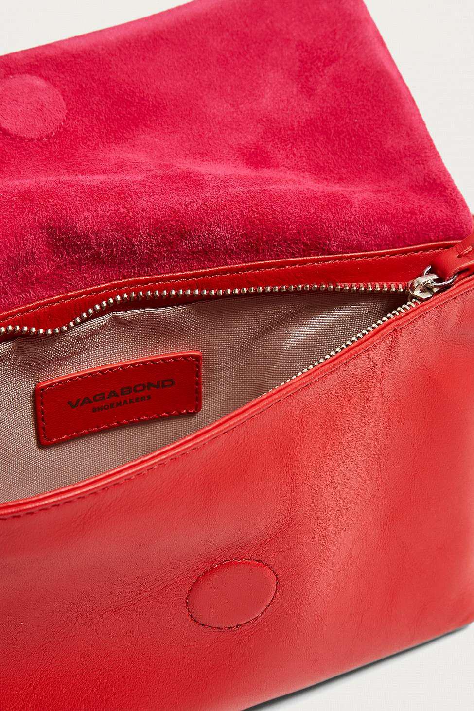591fbbc35ff3b Vagabond Copenhagen Red Leather Bum Bag - Womens All in Red - Lyst