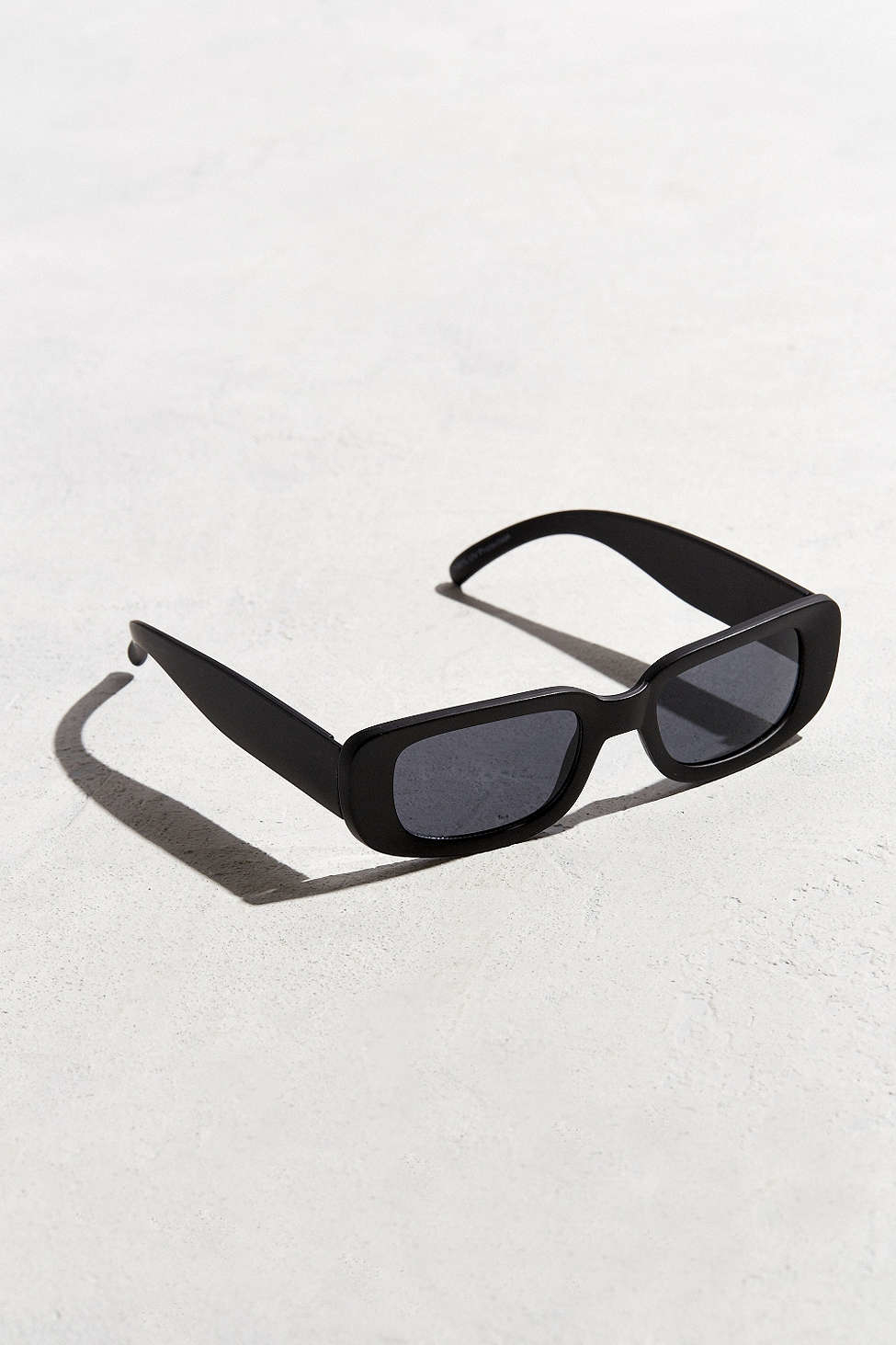 0f39a967cf Urban Outfitters Slim Wide Plastic Sunglasses in Black for Men - Lyst