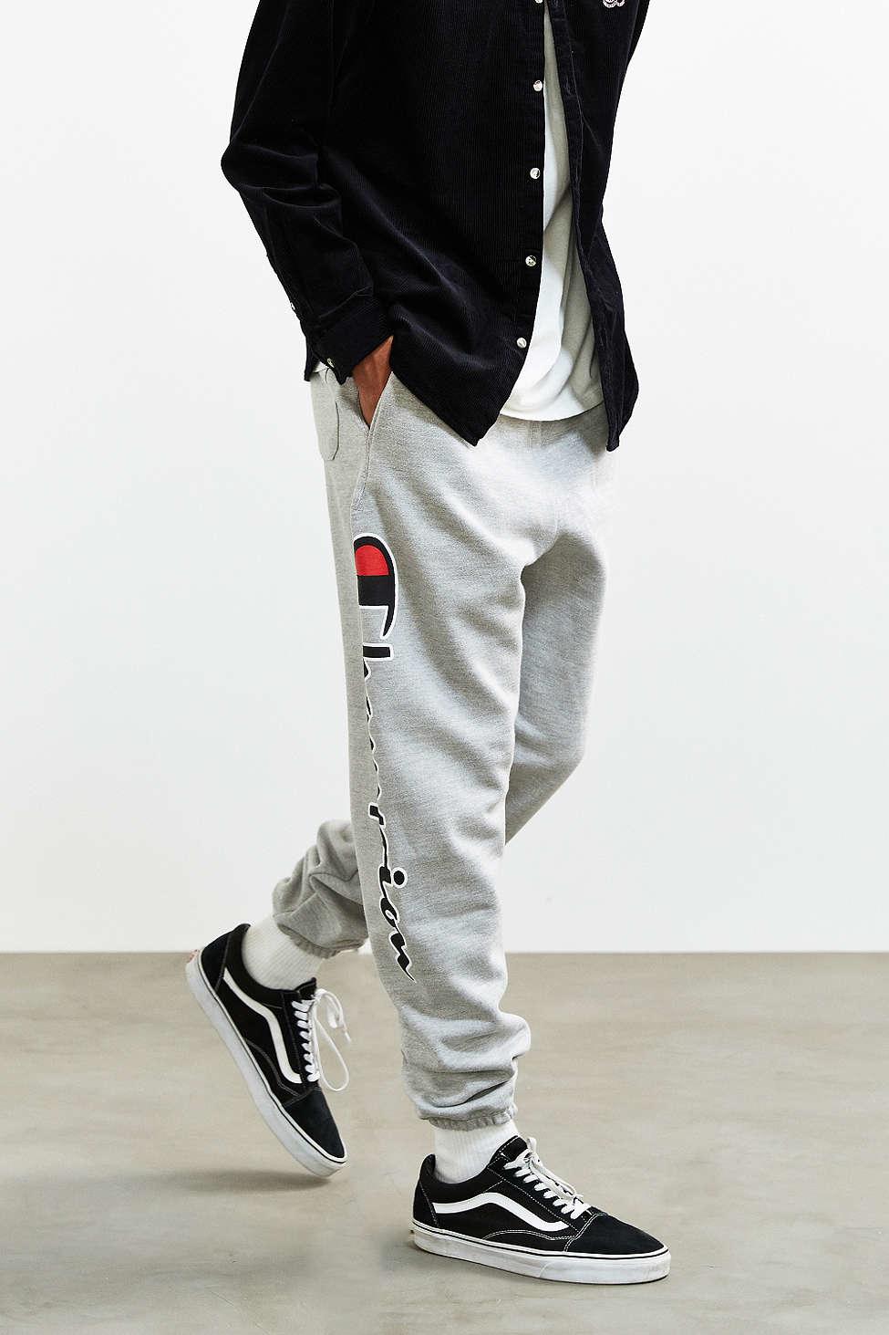 Champion Gray + Uo Reverse Weave Script Logo Sweatpant for men