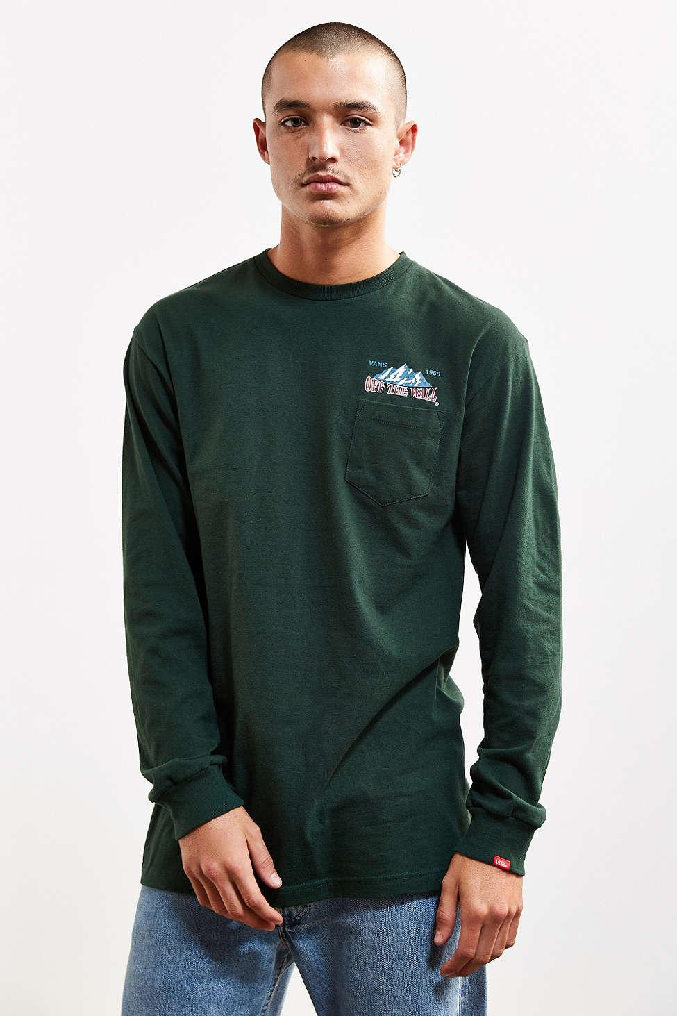 c559bf31a129 Lyst - Vans 66 Summit Long Sleeve Tee in Green for Men