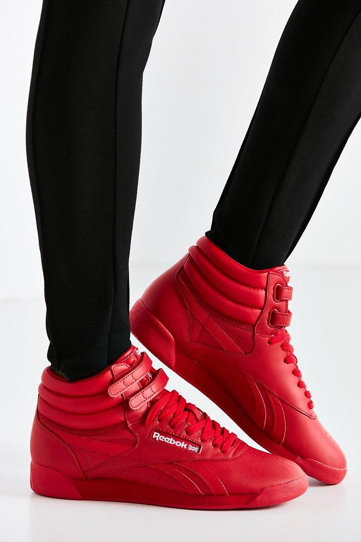 883400617299 Reebok Freestyle Hi Og Lux Sneaker in Red - Lyst