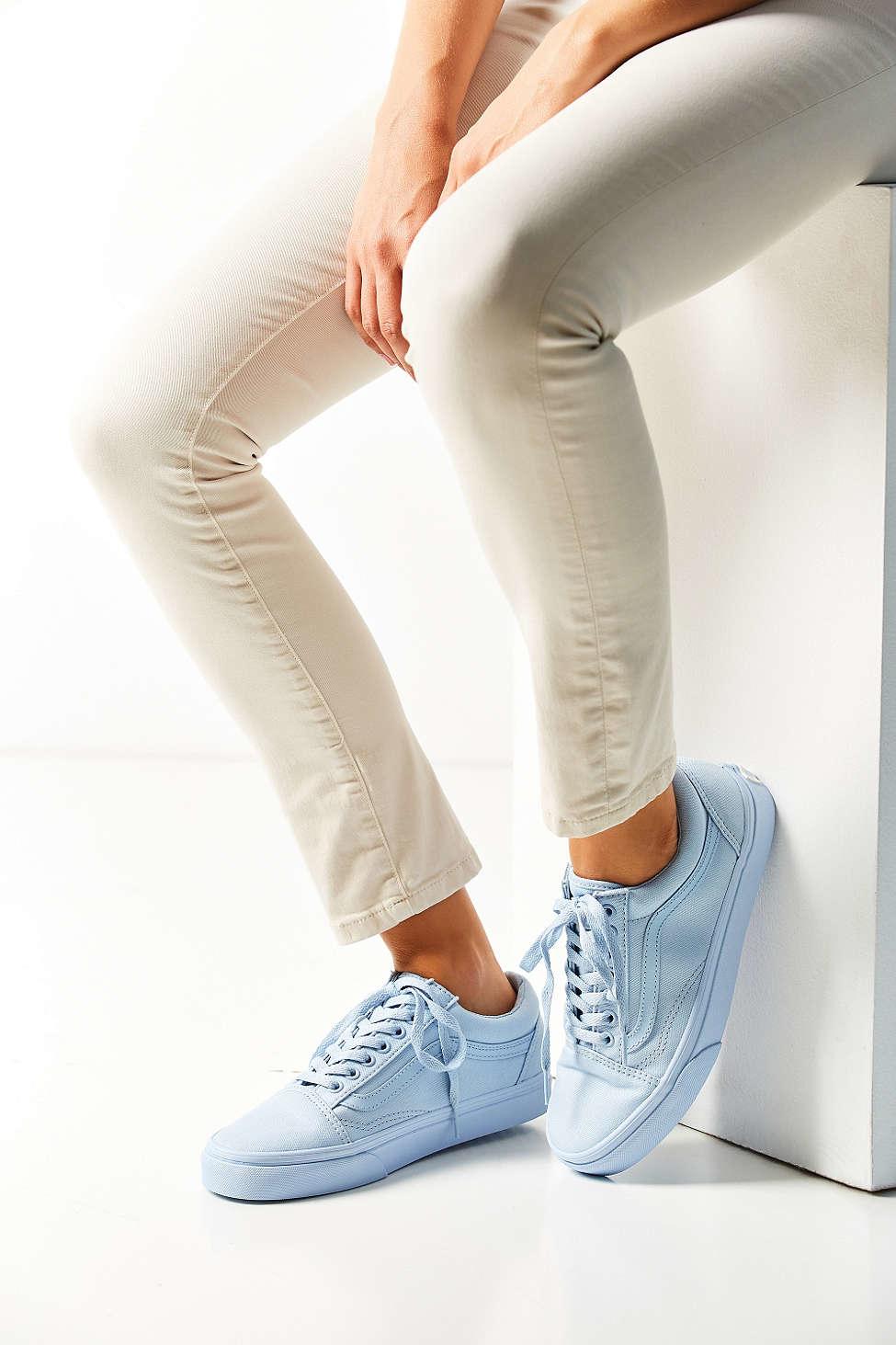 df8422a0449e Lyst - Vans Mono Canvas Old Skool Sneaker