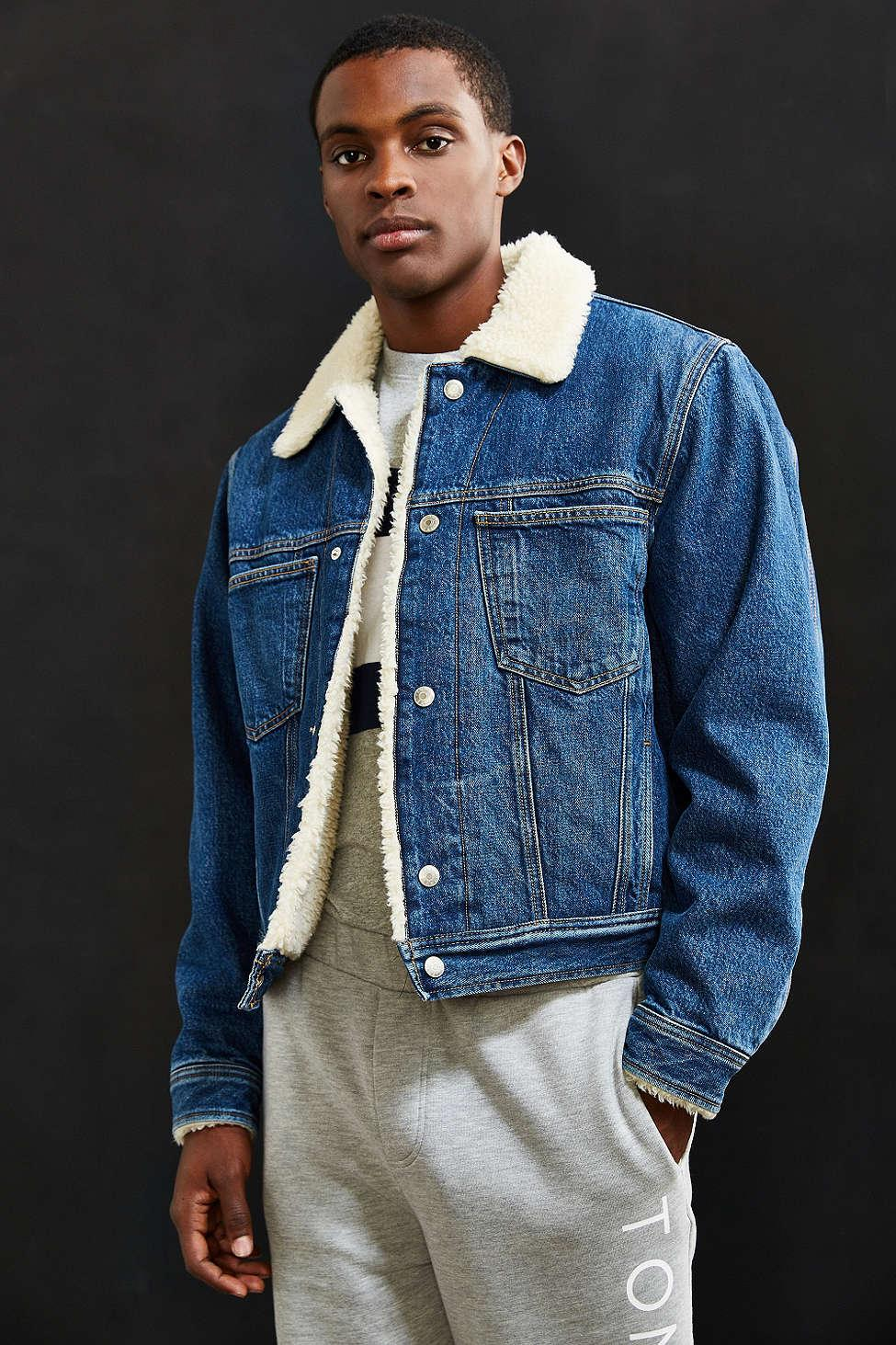 Tommy Jeans For Uo Sherpa Lined Denim Trucker Jacket