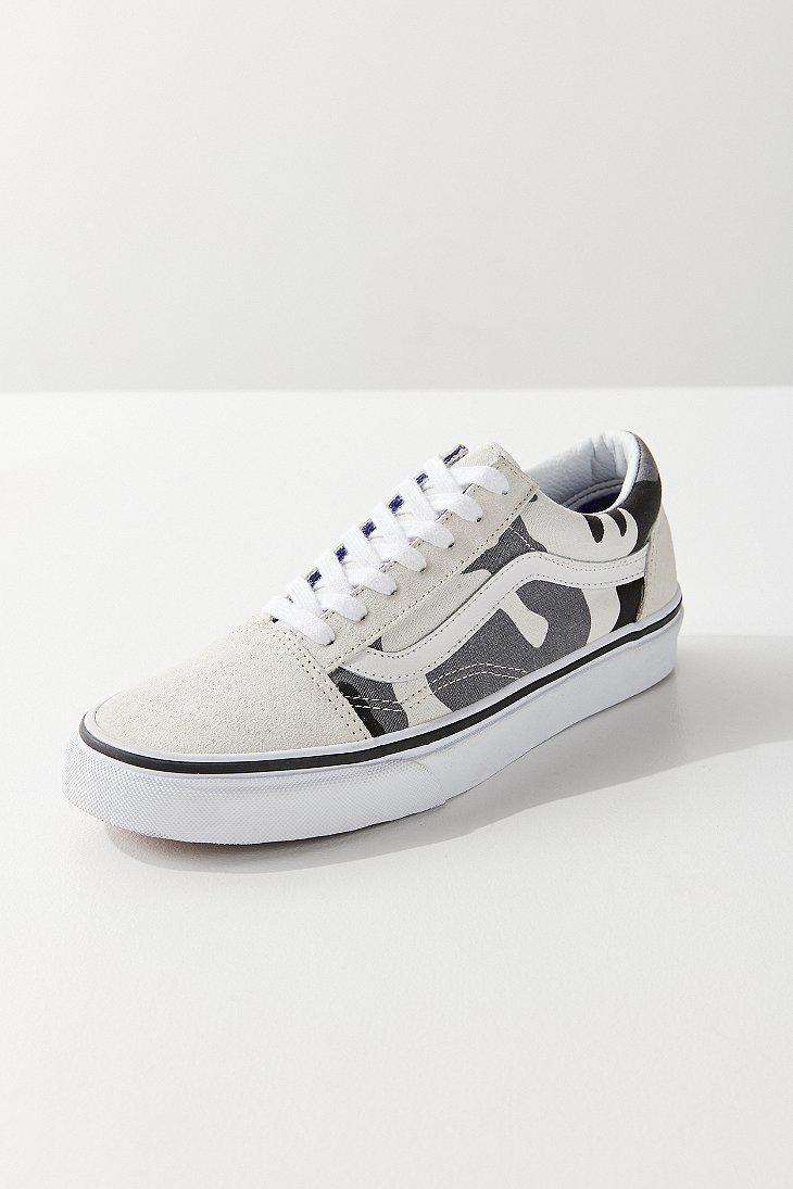 Lyst Vans Vans Amp Uo Snow Camo Old Skool Sneaker
