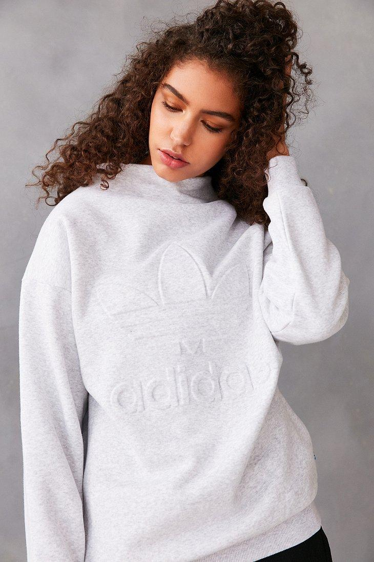adidas Originals Nyc Gray High Neck Trefoil Sweatshirt | My