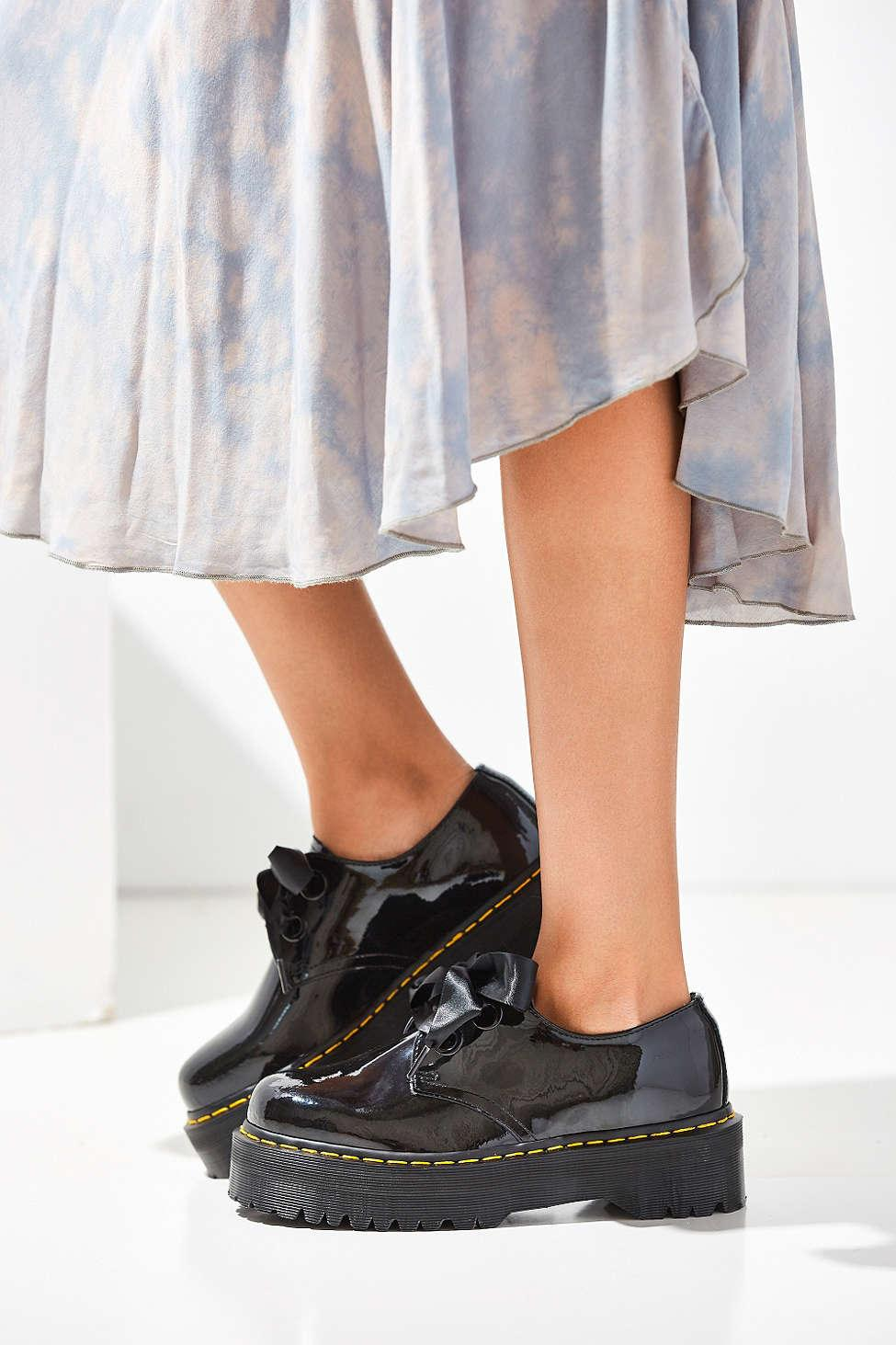 d68d9f6da6a8 Lyst - Dr. Martens Holly Patent Leather Platform Oxford in Black