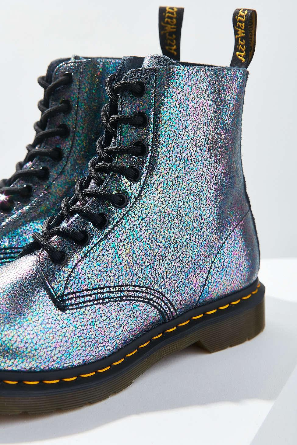 Dr Martens Pascal Iridescent Boot In Gray Lyst