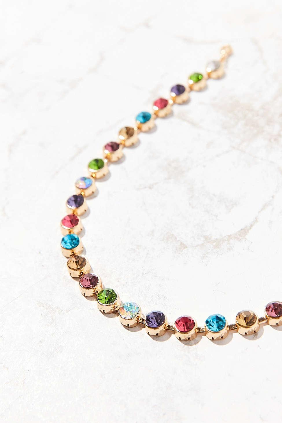 7934e85ccc3d2 Urban Outfitters Metallic Eleni Rainbow Choker Necklace