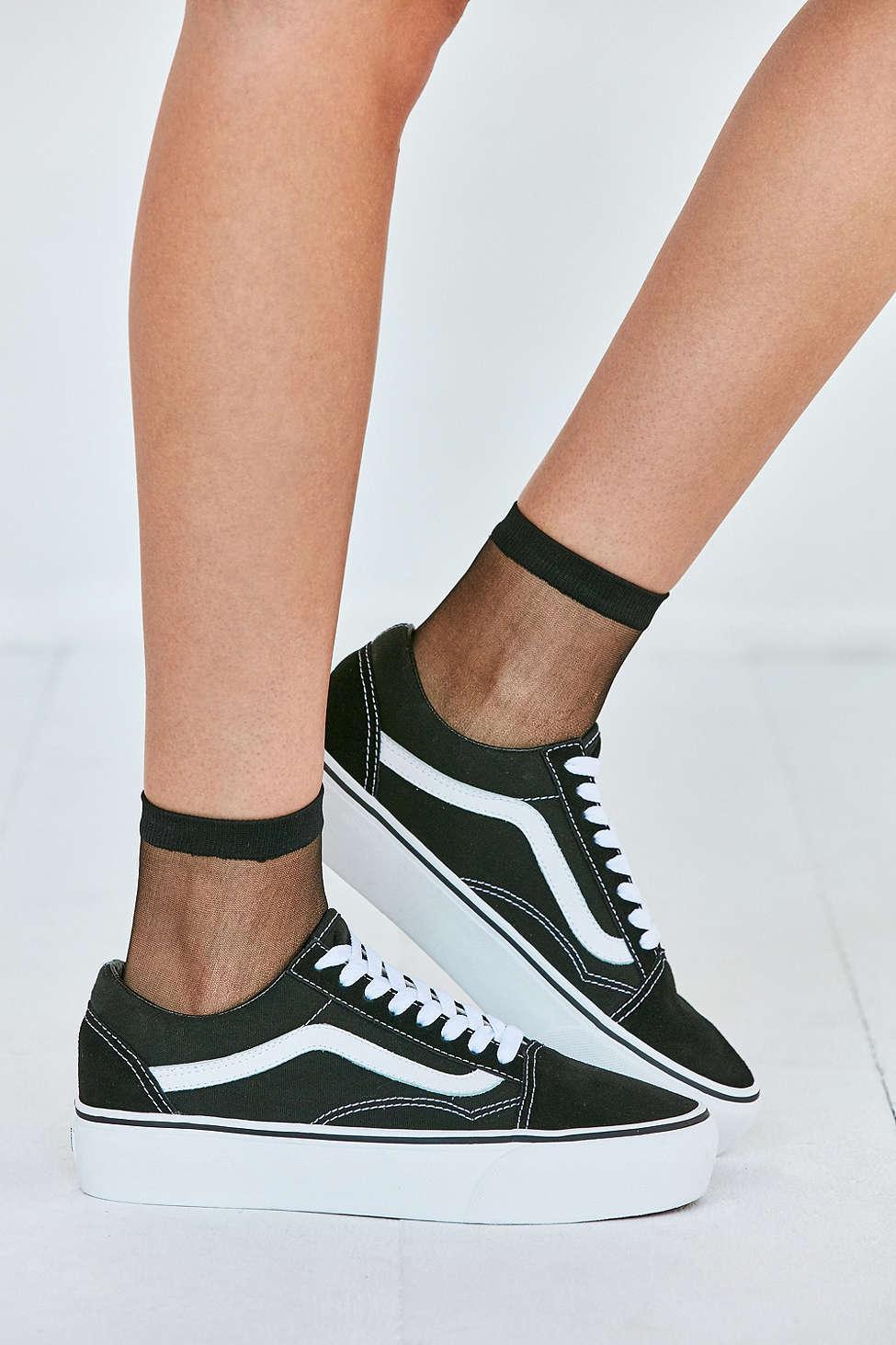 vans old skool platform sneaker in black lyst. Black Bedroom Furniture Sets. Home Design Ideas