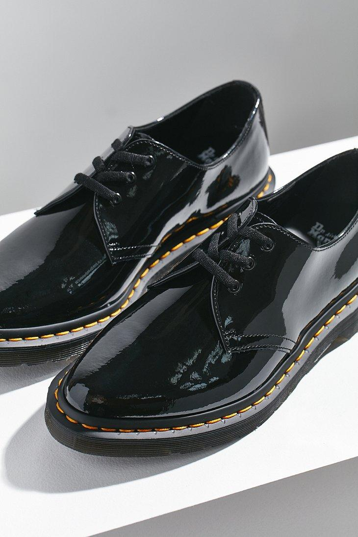 f4c9e5e1df Dr. Martens Dupree Patent Leather 3-eye Shoe in Black - Lyst