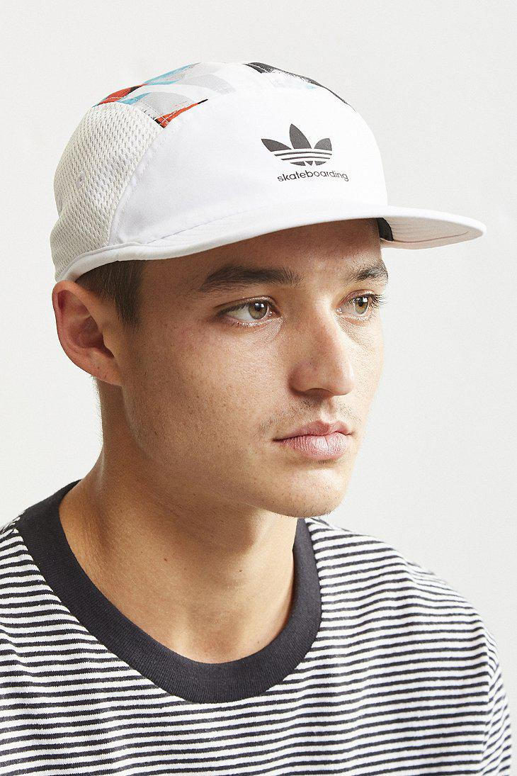 Lyst - adidas Originals Skateboarding Courtside Hype Hat in White ... 5ad927c1a4a