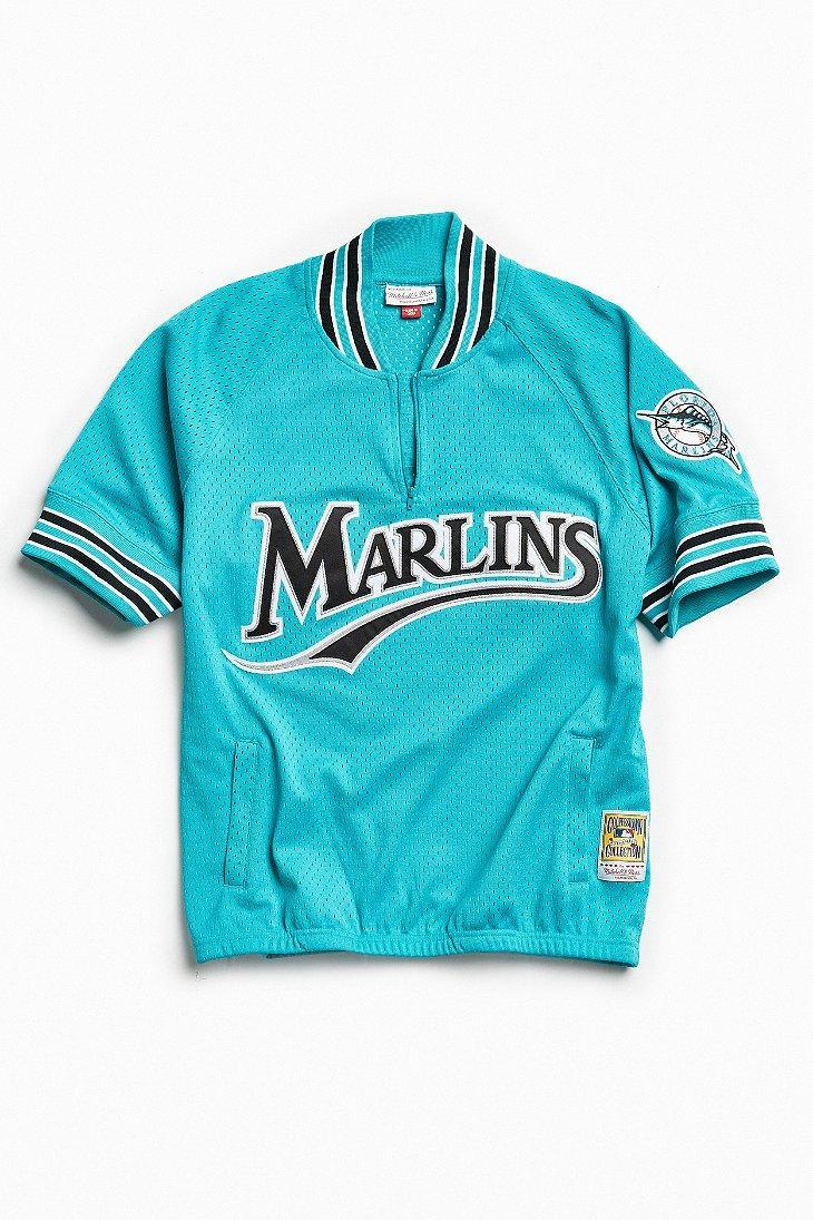 36007648445 Lyst - Mitchell   Ness 1995 Florida Marlins Batting Jersey in Blue ...