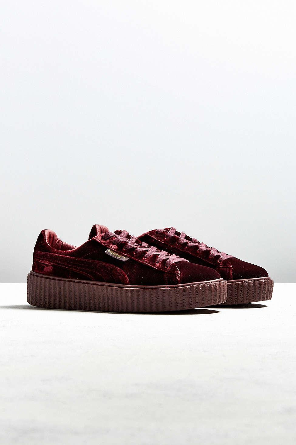 new arrival ace48 78561 PUMA Red Fenty By Rihanna Women's Velvet Creeper Sneaker