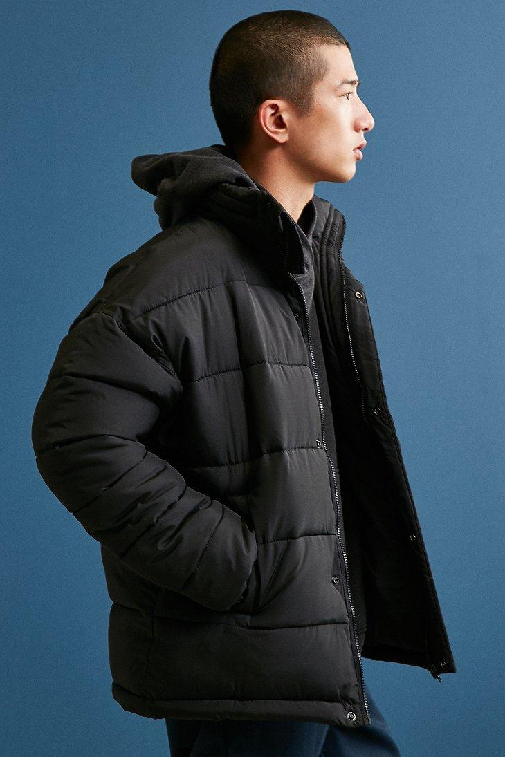 Urban Outfitters Synthetic Uo Puffer Jacket In Black For