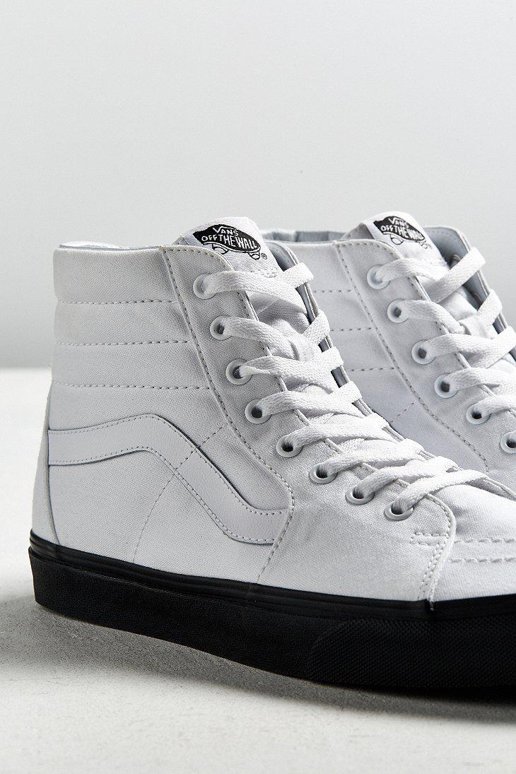 Vans White Sk8-hi Black Sole Sneaker for men