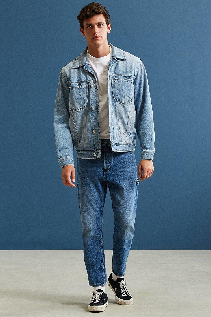 Lyst - Tommy hilfiger '90s Denim Trucker Jacket in Blue