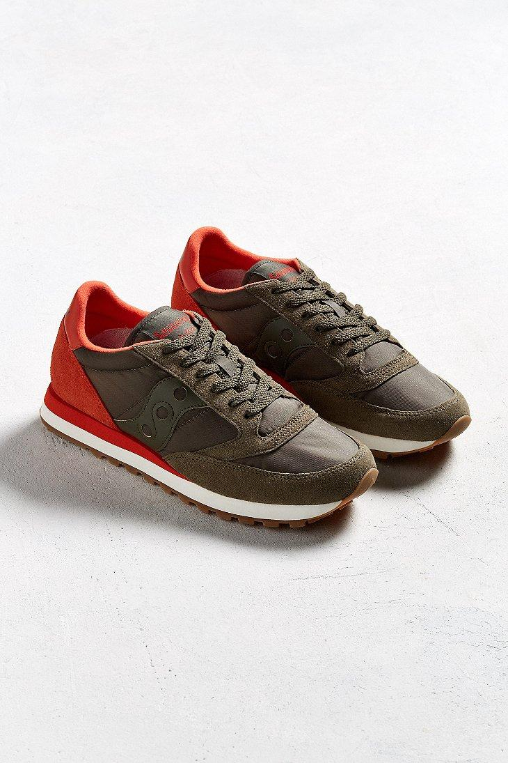 official photos 4008f 682af Saucony Jazz Original Olive + Cherry Sneaker in Green for Men - Lyst