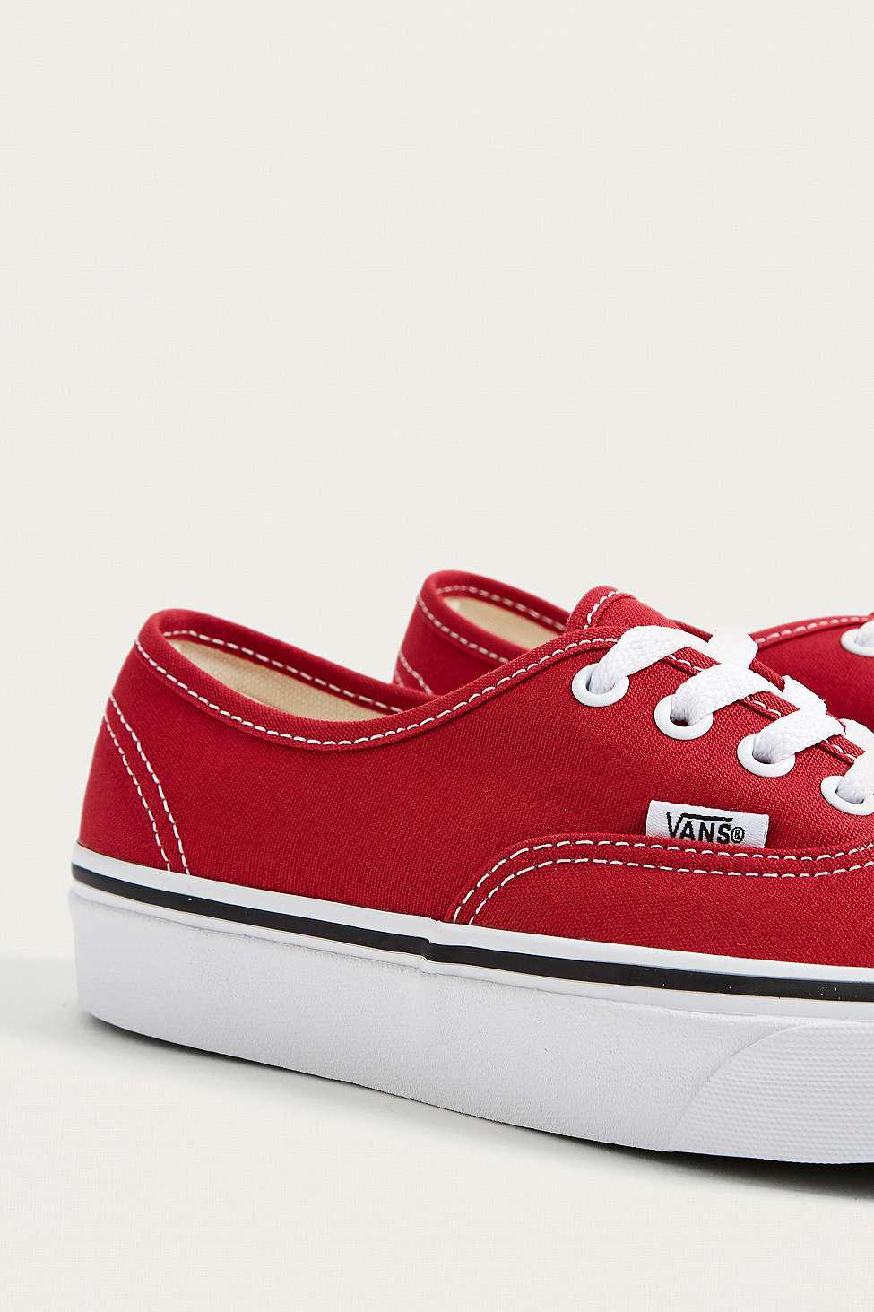 Vans Canvas Authentic Red Trainers