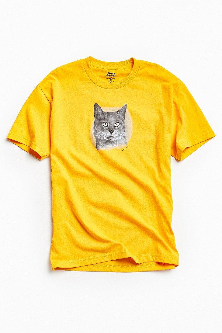 Urban outfitters skate mental cat glow in the dark eyes for Lucky cat shirt urban outfitters