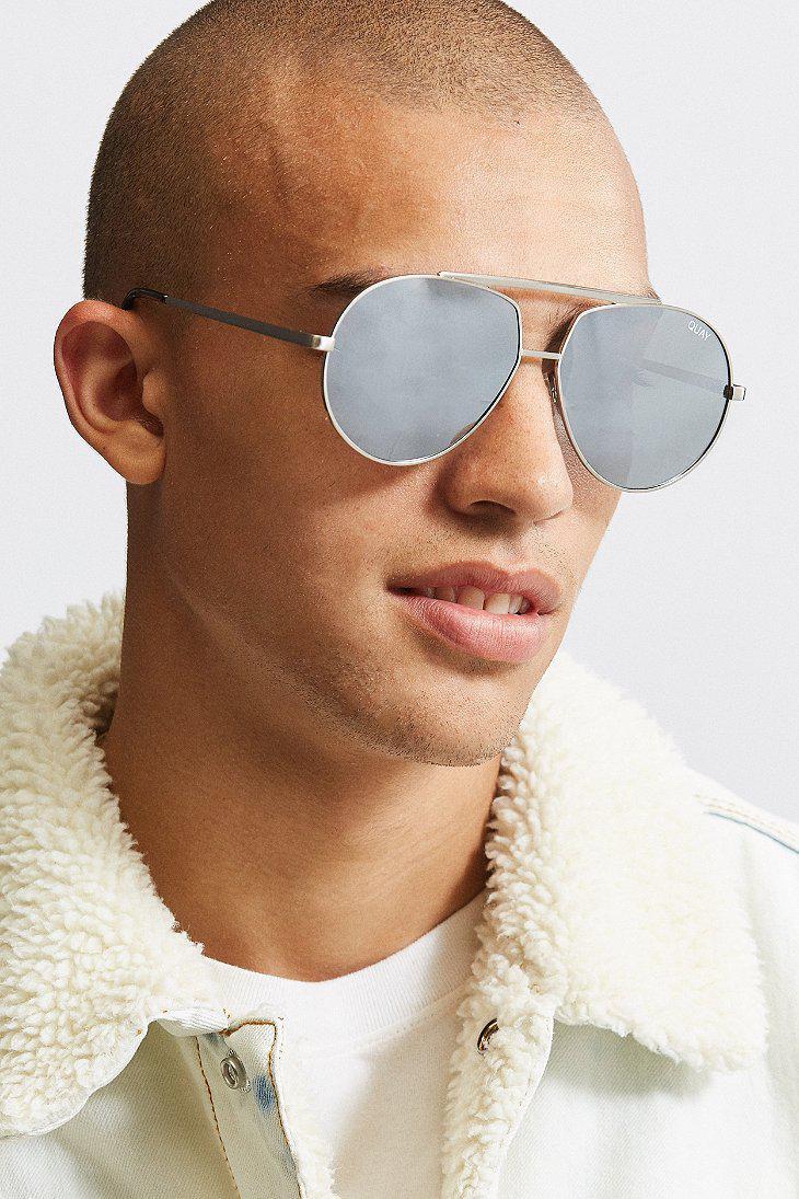 1350fedd80 Lyst - Quay Blaze Sunglasses in Metallic for Men