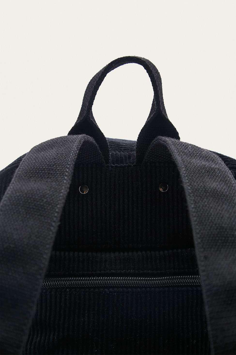 BDG Corduroy Black Backpack
