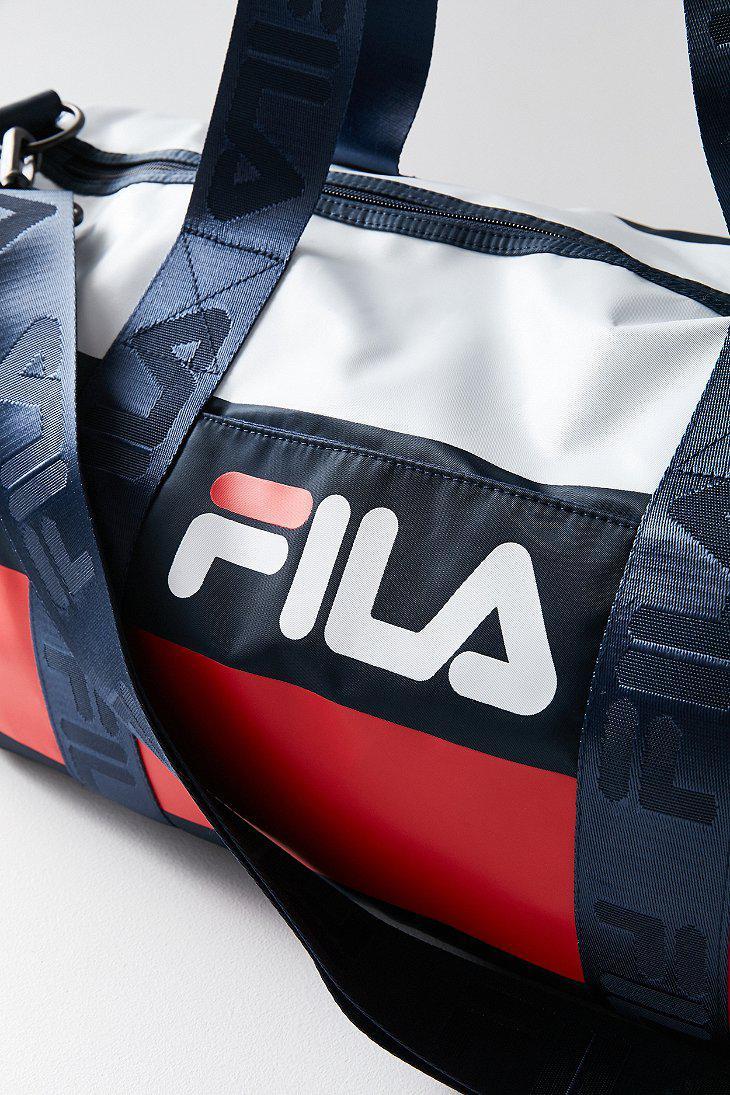 2cc38eecb6b675 Fila Fila Major Stripe Duffle Bag in Blue - Lyst