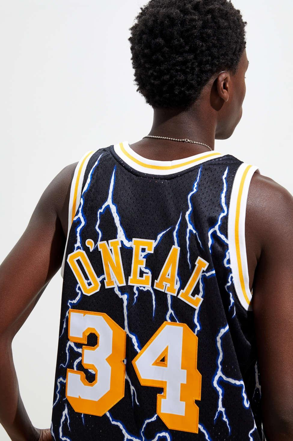 Mitchell & Ness Los Angeles Lakers Shaquille O'neal Lightning ...