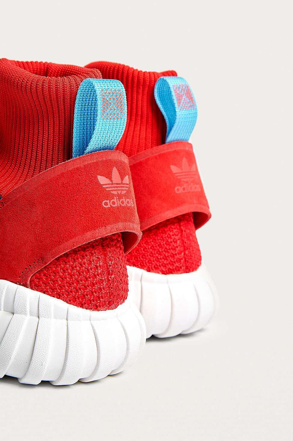 adidas Originals Tubular Doom Winter High-top Trainers in Red