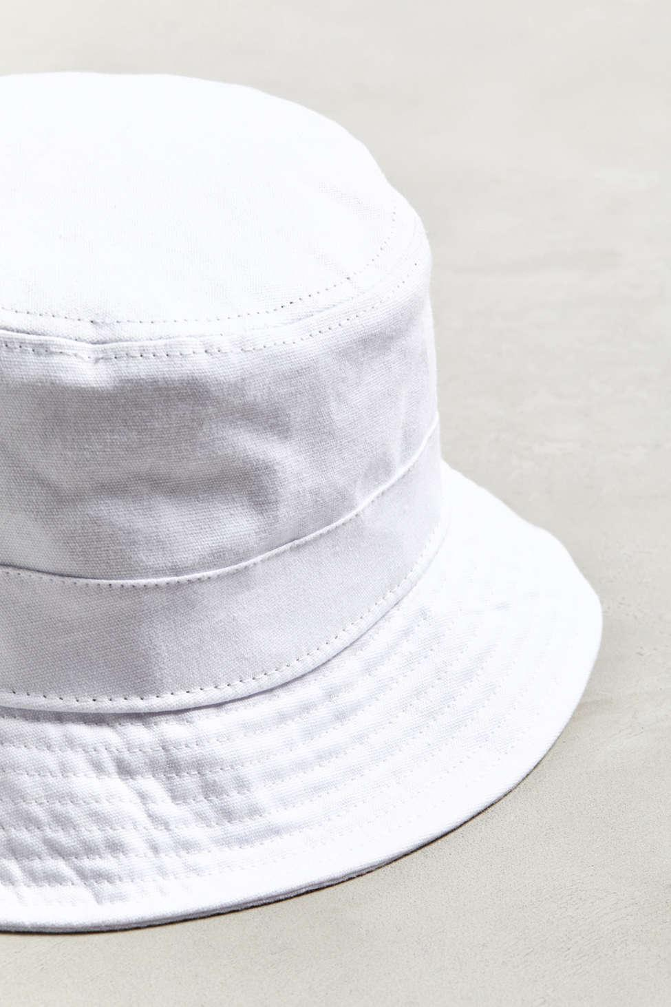 6054443df8d4c Urban Outfitters - White Uo Canvas Bucket Hat for Men - Lyst. View  fullscreen