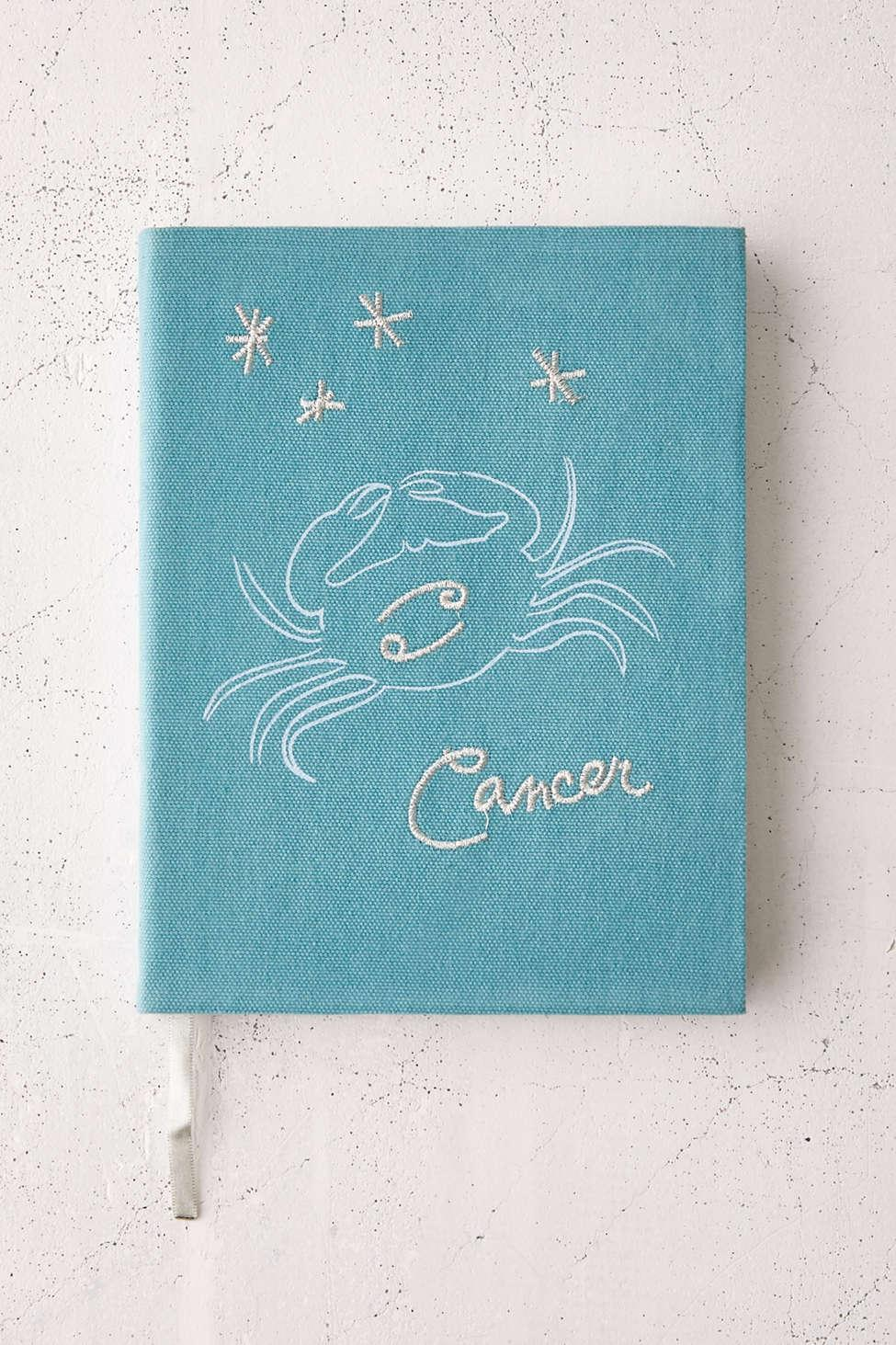 Urban Outfitters Zodiac Embroidered Journal in Blue   Lyst