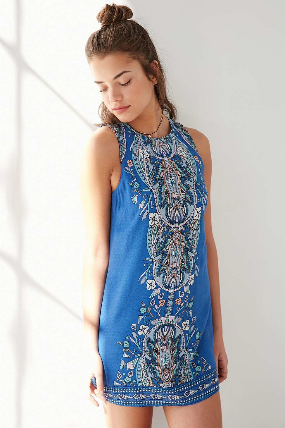 Lyst - Ecote Guinevere Open-back Frock Dress in Blue