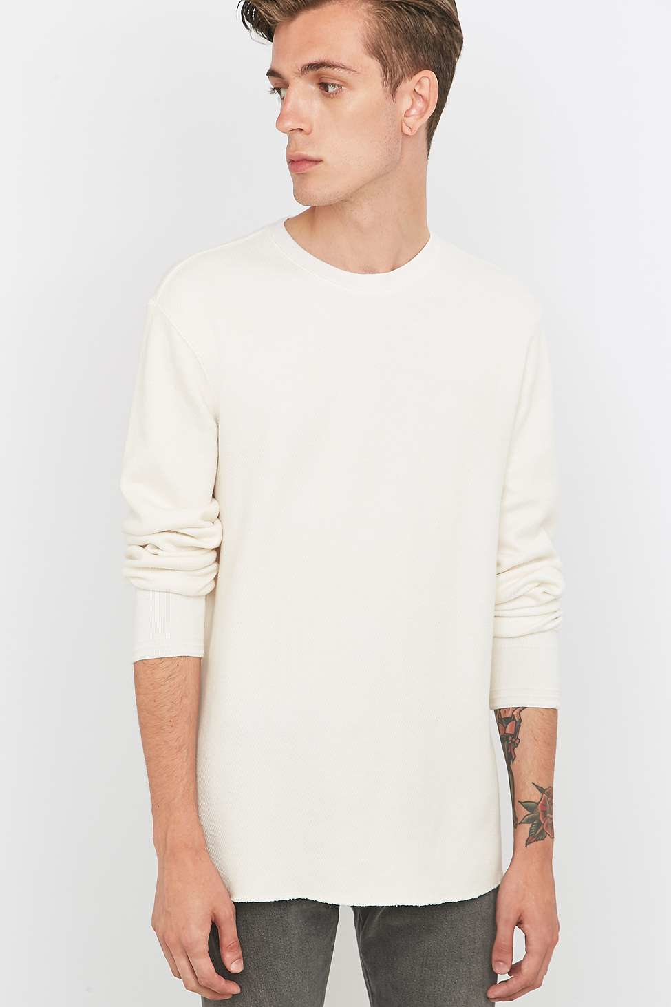 Levi S Off White Long Sleeve Layering T Shirt In Ivory