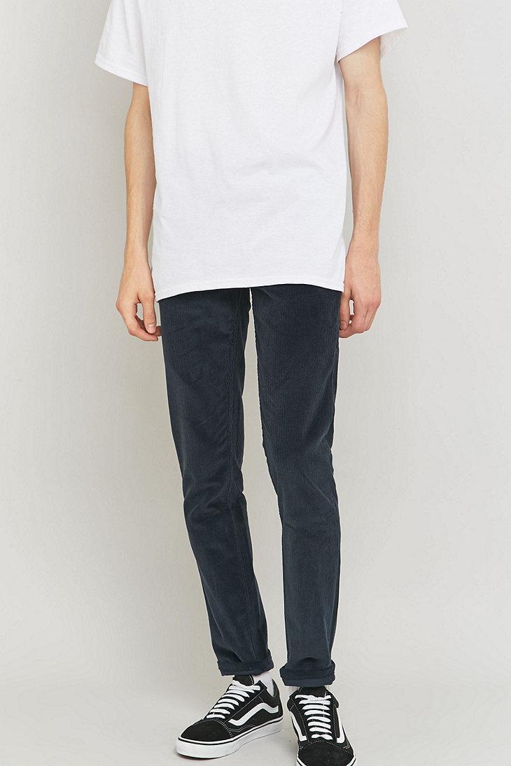 Farah Corduroy Drake Navy Cord Trousers in Blue for Men