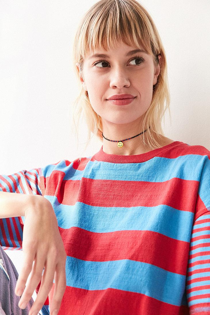 Urban Outfitters Emma Short Beaded Choker Necklace in Dark Yellow (Yellow)