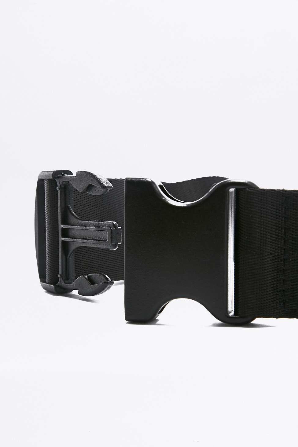 Urban Outfitters Black Velvet Oversized Cross Body Bum Bag