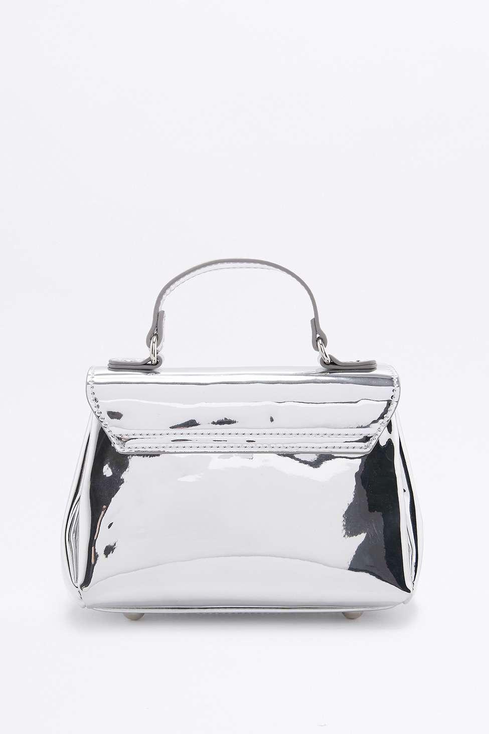 Urban Outfitters Silver Flap Mini Cross Body in Metallic