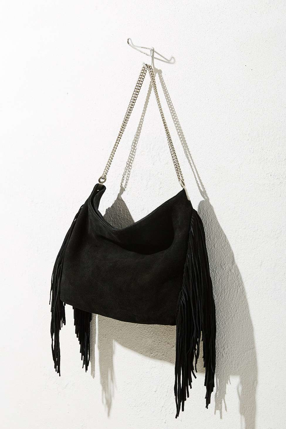 3df4945271af82 Black Suede Hobo Bag With Fringe | Stanford Center for Opportunity ...
