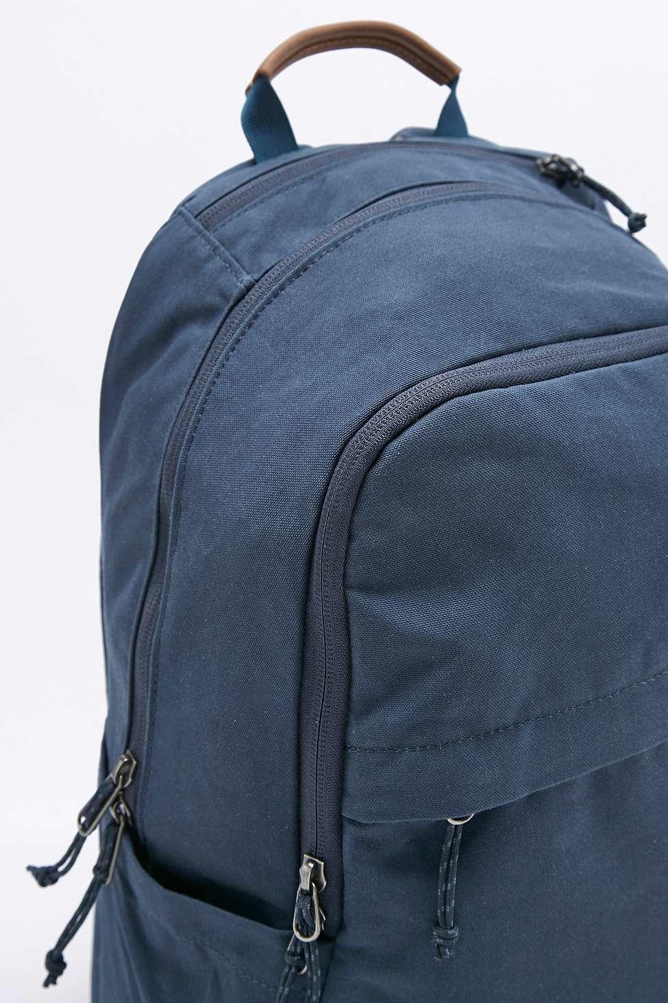Fjallraven Leather Raven 20l Navy Backpack in Blue