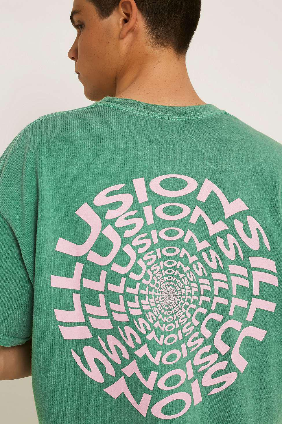 f3f3c9e8c2 Urban Outfitters Uo Green & Pink Illusions T-shirt - Mens S in Green ...