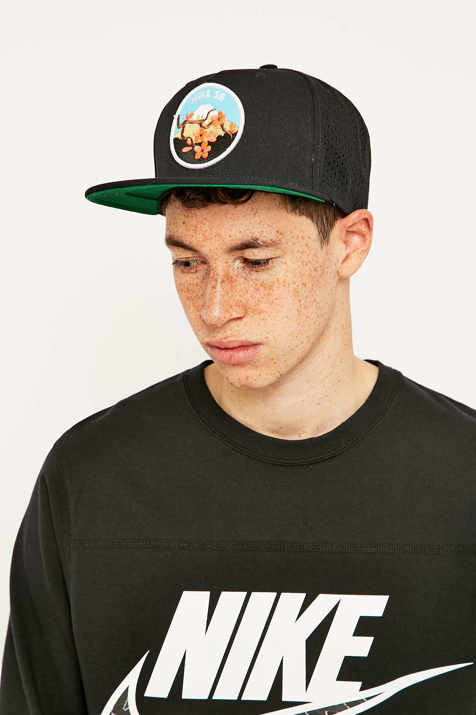 Nike Cherry Blossom Perforated Pro Cap in Black for Men - Lyst 02ffb9efa91c