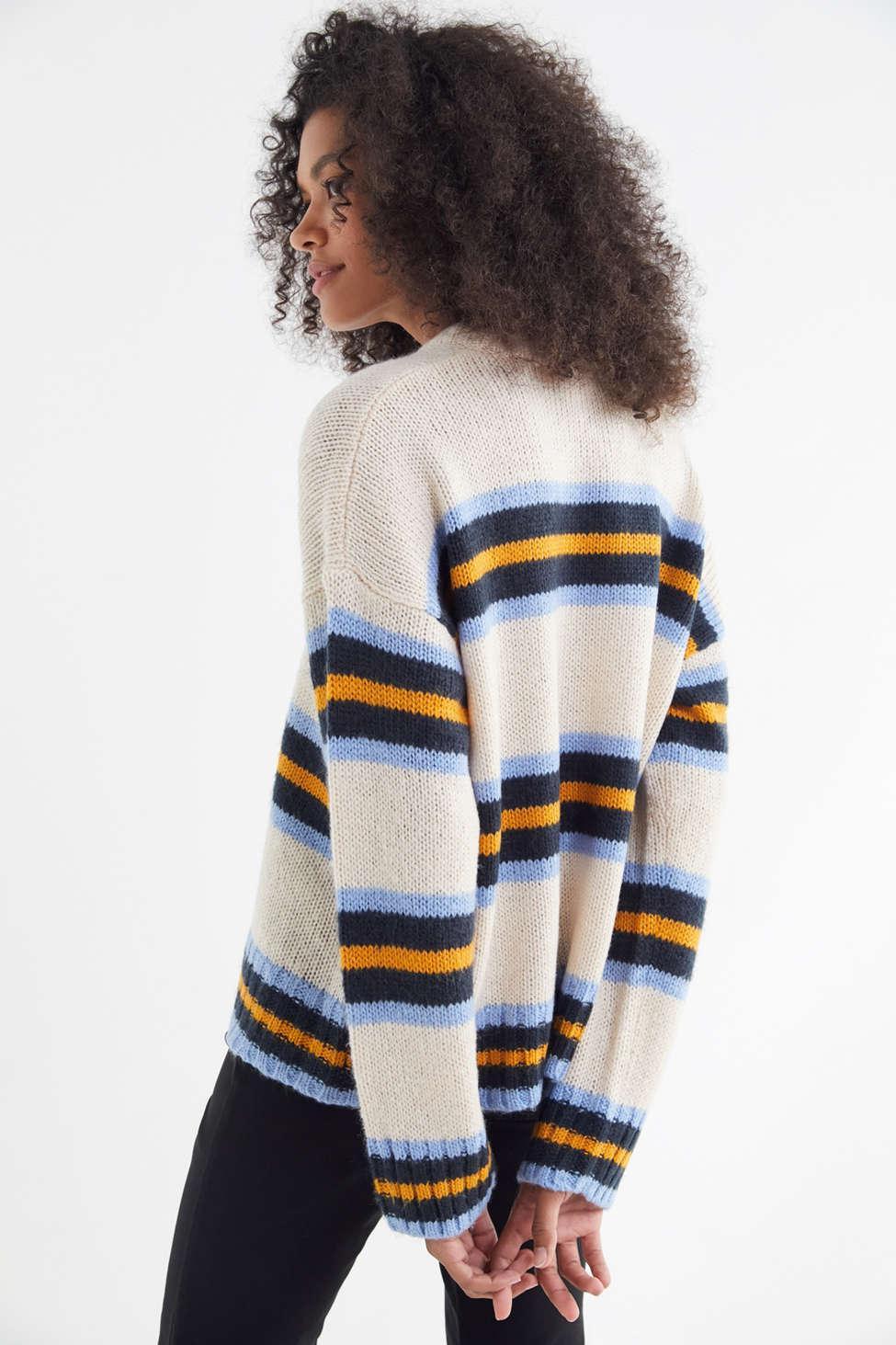67869b44fa Urban Outfitters - Multicolor Uo Bobby Boyfriend Striped Crew-neck Sweater  - Lyst. View fullscreen