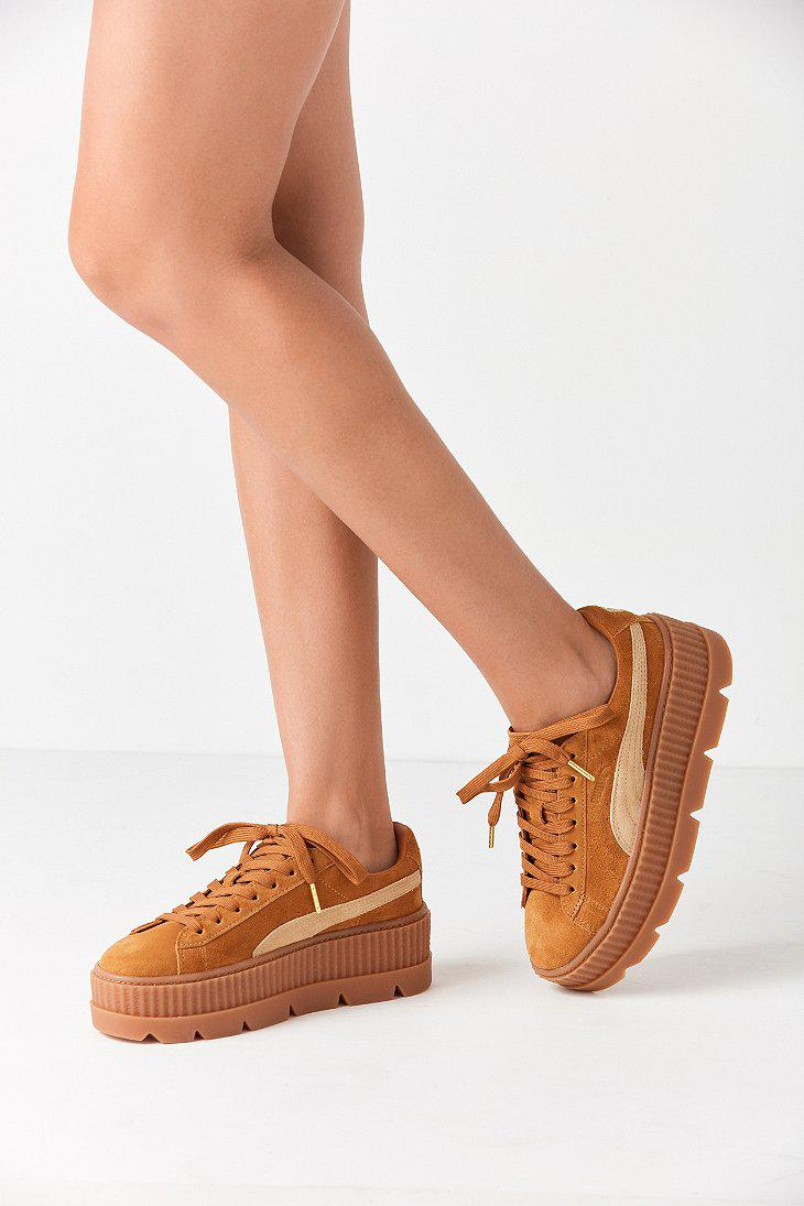 566002d4f20 Lyst - PUMA Fenty By Rihanna Suede Cleated Creeper Sneaker in Brown