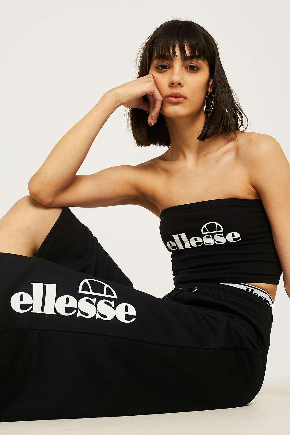 bea028c9a0 Ellesse Padua Black Tube Top - Womens Uk 12 in Black - Lyst