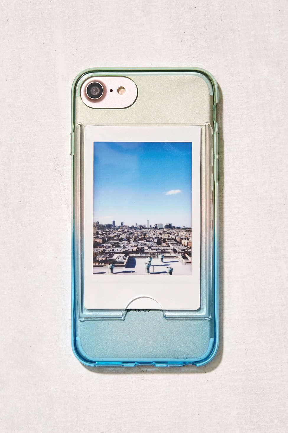 sports shoes e73c7 a868c Urban Outfitters Blue Ombre Instax Mini Frame Iphone 8/7/6 Case for men
