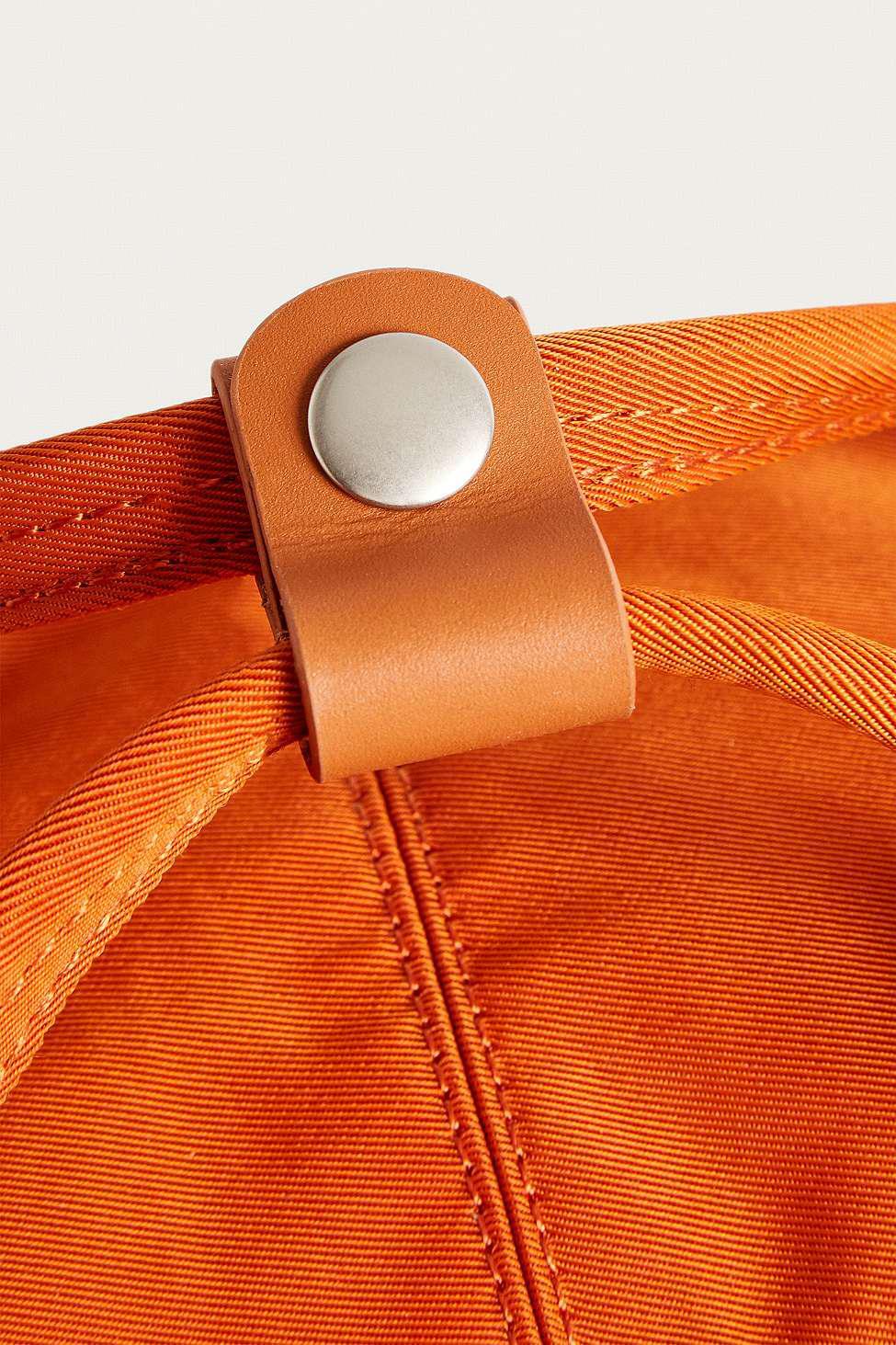 Doughnut Synthetic Macaroon Orange Backpack