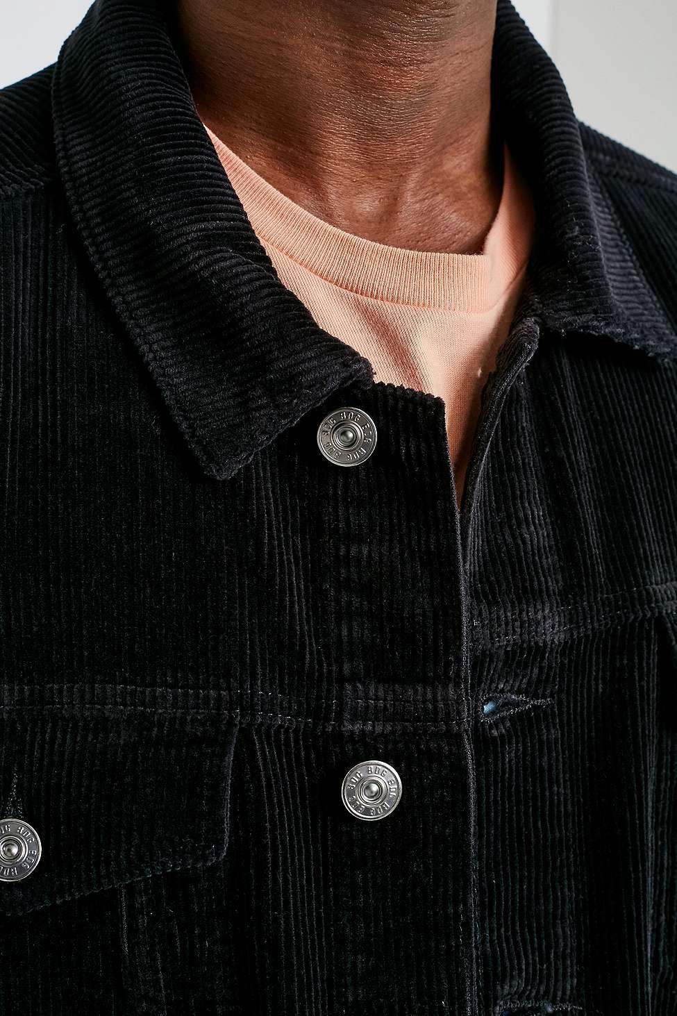 BDG Corduroy Hooper Black Cord Trucker Jacket for Men