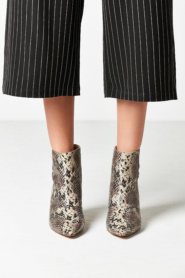 ddde90f00299 Lyst - Urban Outfitters Snakeskin Kitten Heel Ankle Boot in Gray