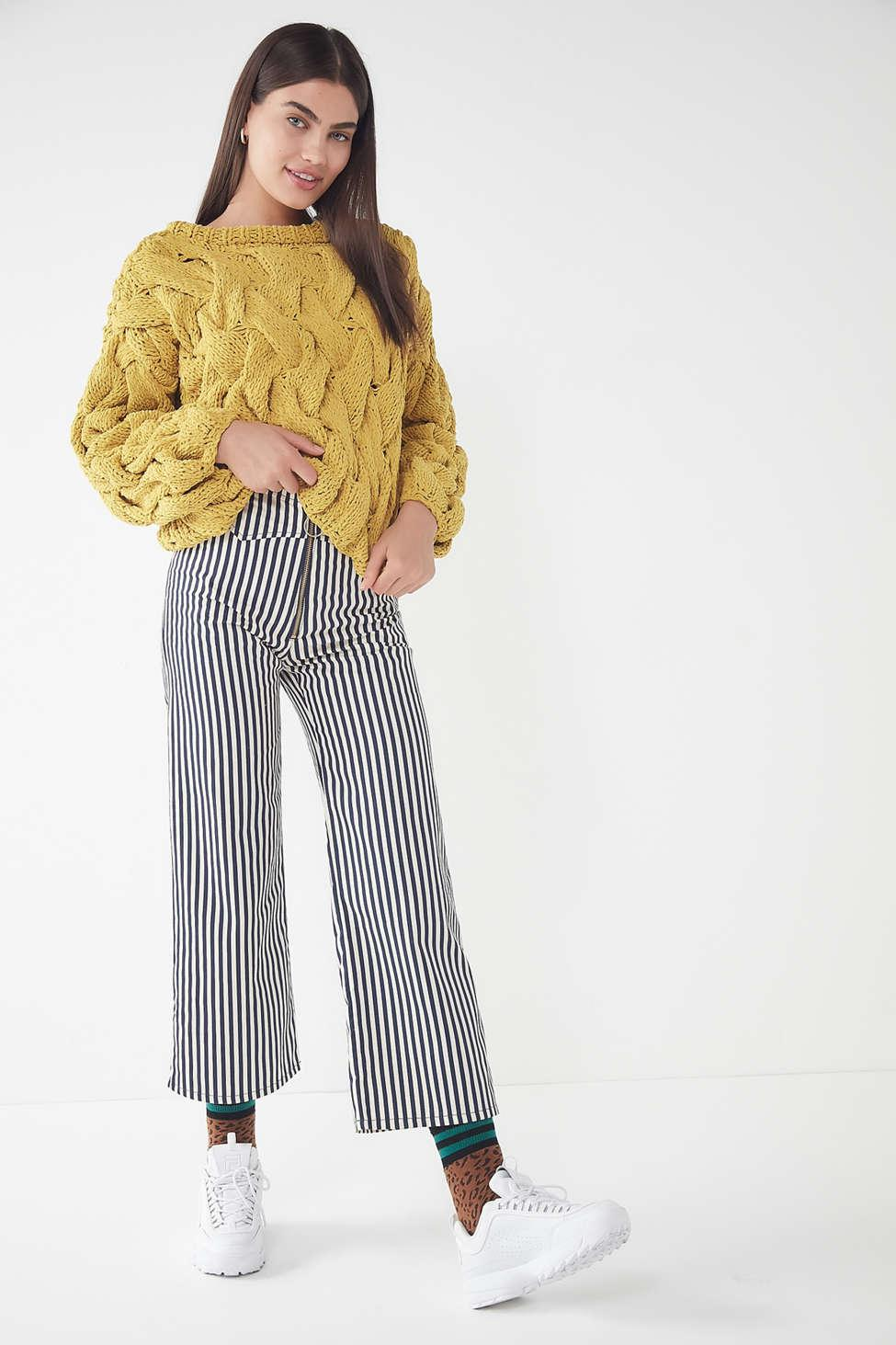 02dcf9b10e1c Lyst - Urban Outfitters Uo Hand Knit Cable Pullover Sweater in Yellow