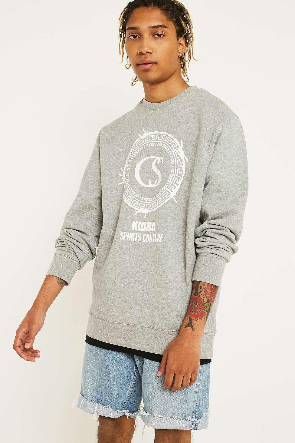 2a1235e12de Christopher Shannon X Uo Kidda Logo Grey Sweatshirt in Gray for Men ...